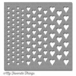 My Favortite Things Mix-Ability Stencil - Graduated Hearts