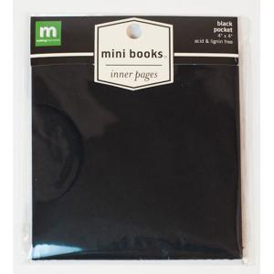 "Making Memories Mini Album 4"" x 4"" - Inner Pages Pocket - Black [23320]"