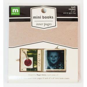 "Making Memories Mini Album 4"" x 4"" - Inner Pages Random - Kraft [23328]"