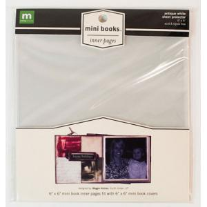 """Making Memories Mini Album 6"""" x 6"""" - Inner Pages Sheet Protector - Antique White [23335]"""