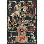 Victorian Scrap Pictures [7238] - Puppies & Kittens - ON SALE!