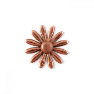 Nunn Designs Ornamental Brads - [dfbc-sb] Daisy Flower Brad Small, Copper
