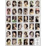 ARTchix Faux Postage Sticker Sheet - P302 Glamour Post