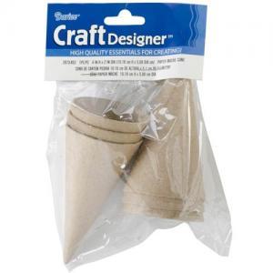 Paper Mache Cones - Mini Pack Of 6 [2873-852]
