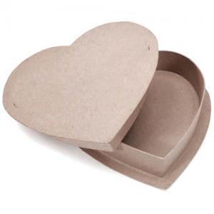 "Paper Mache Heart Box - 11 3/4"" [2871-70]"