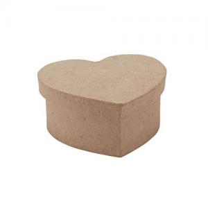 "Paper Mache Mini Heart Box - 3.25"" [28-0021]"