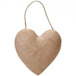 Paper Mache Puffy Heart Ornament [2833-44]