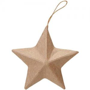"Paper Mache Star 3"" [2809-10]"