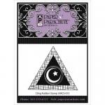 Paper Parachute Cling Rubber Stamp - Bold Triangle Moon [UMCS-013]