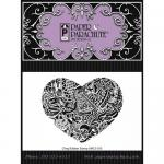 Paper Parachute Cling Rubber Stamp - Graphic Heart [UMCS-555]