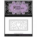 Paper Parachute Cling Rubber Stamp - 3 Heart Rectangle [UMCS-063]
