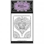 Paper Parachute Cling Rubber Stamp - Heart With Quarter Circles [UMCS-513]