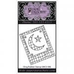 Paper Parachute Cling Rubber Stamp - Small Grid Moon [UMCS-006]