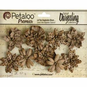 Petaloo Darjeeling Paper Wild Blossoms  - Kraft Brown [1478 200]