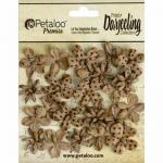 Petaloo Darjeeling Paper Mini Blossoms - Kraft Brown [1481 200]