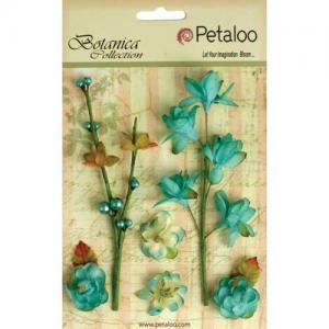 Petaloo Botanica Floral Ephemera - Teal [1100 104]