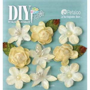 Petaloo DIY Paintables Textured Mini Blossoms - Ivory [1650013]