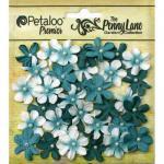 Petaloo Penny Lane Mini Pearl Daisies - Teal [1839-061]