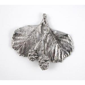 Pewter Accents - Large Raspberries & Leaves