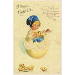 Printed Fabric Image - A Happy Easter