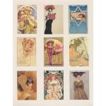Printed Fabric Images - Full Page Nouveau Ladies Too