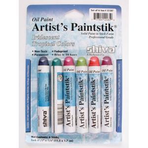 Shiva Artist's Paintsticks - 6 Iridescent Tropical Colors [121307]