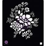 "Prima 6"" x 6"" Stencil - Floral Bouquet [580025]"
