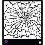 """Prima 6"""" x 6"""" Stencil - Broken Glass [582906]"""