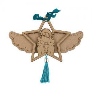 Prima / Julie Nutting Etched Wood Ornament - Starr