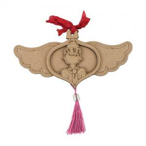 Prima / Julie Nutting Etched Wood Ornament - Coco