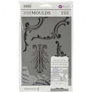 Prima Iron Orchid Designs Vintage Art Decor Mould - Baroque #4