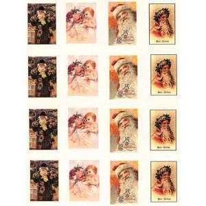 Printed Fabric Images - Full Page Santa