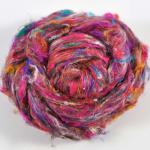 Pulled Silk Fiber - Pink