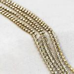 Preciosa Rhinestone Chain - Brass Chain/Clear Crystal (SS6.5) Rhinestones