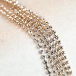 Preciosa Rhinestone Chain (Half Yard) - Silver Chain/Clear Crystal (SS12) Rhinestones