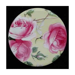 Porcelain Disc - Rose Chintz - Round