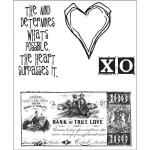 Stampers Anonymous/Tim Holtz Unmounted Rubber Stamps - [CMS006] From the Heart