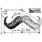 Tim Holtz by Stampers Anonymous Wood Mounted Stamp - [P4-2086] Mustache Sketch