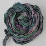 Sari Silk Ribbon - Spruce