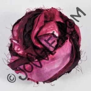 Sari Silk Watercolor Ribbon - Voodoo