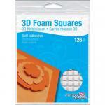 """Scrapbook Adhesives 3D Self-Adhesive Foam Squares .5"""" x .5"""" [01610]"""
