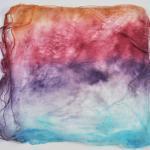 Hand Dyed Silk Hankies - Aurora