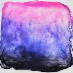 Hand Dyed Silk Hankies - Black Light