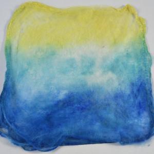 Hand Dyed Silk Hankies - Calypso