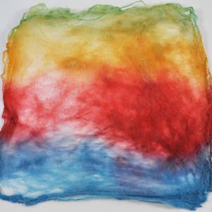 Hand Dyed Silk Hankies - Farmers' Market