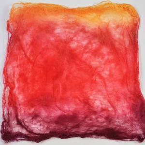 Hand Dyed Silk Hankies - Moulin Rouge