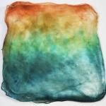 Hand Dyed Silk Hankies - Redwood Forest