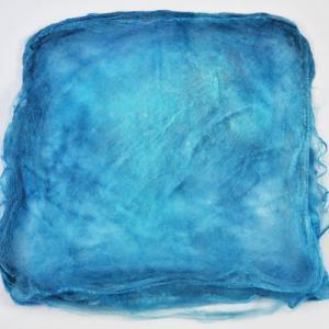 Hand Dyed Silk Hankies - Sapphire