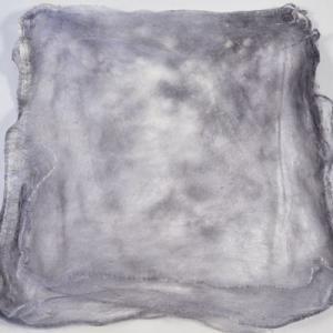 Hand Dyed Silk Hankies - Steel