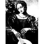 DaVinci Collection - Lady and Lute [R3155]
